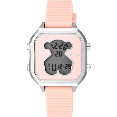 Reloj Tous 100350385 D-BEAR TEEN SQUARE SS SILICONA ROSA Mujer