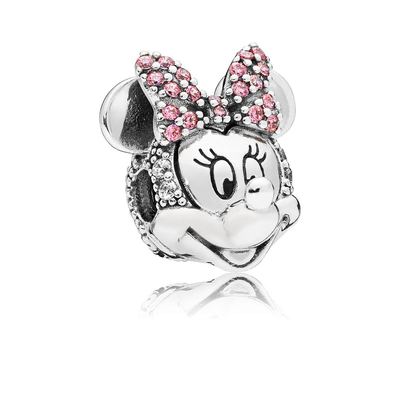 Charms Plata Pandora Blanco 797496CZS Minnie